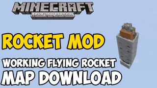 Minecraft Xbox 360/One: Flying Rocket Modded Map Download