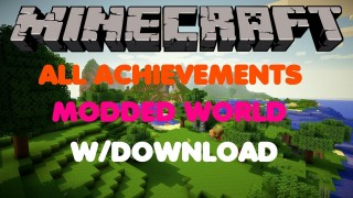Minecraft Xbox 360/One: All Achievements Modded map Download